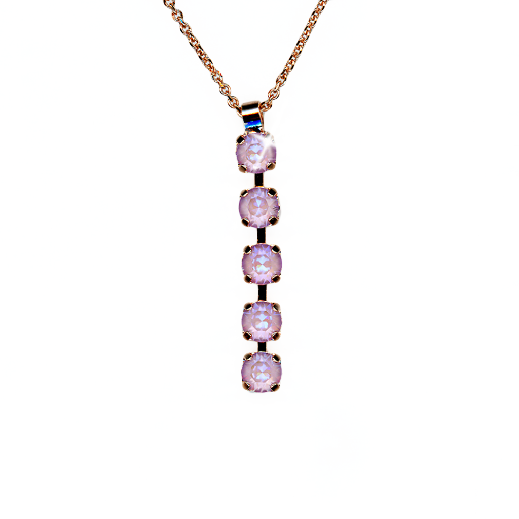 "Petite Five Stone Pendant in Sun-Kissed ""Lavender"" *Preorder*"