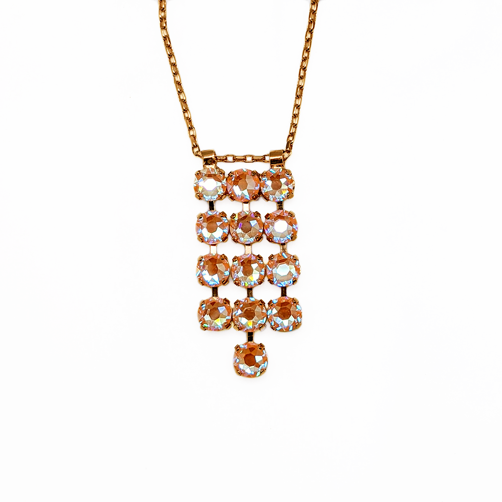 "*Preorder* Three Row Round Pendant in Sun-Kissed ""Peach"""