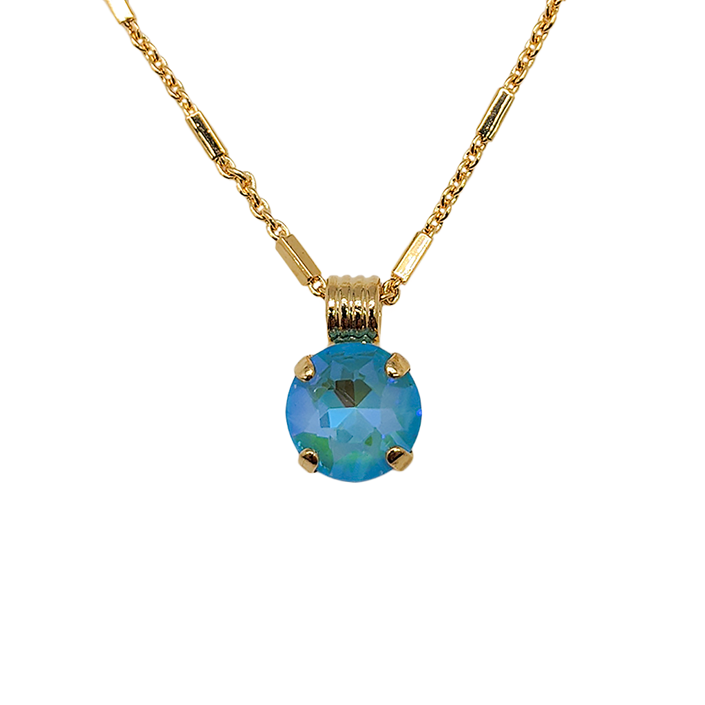"*Preorder* Lovable Single Stone Pendant in Sun-Kissed ""Aqua"""