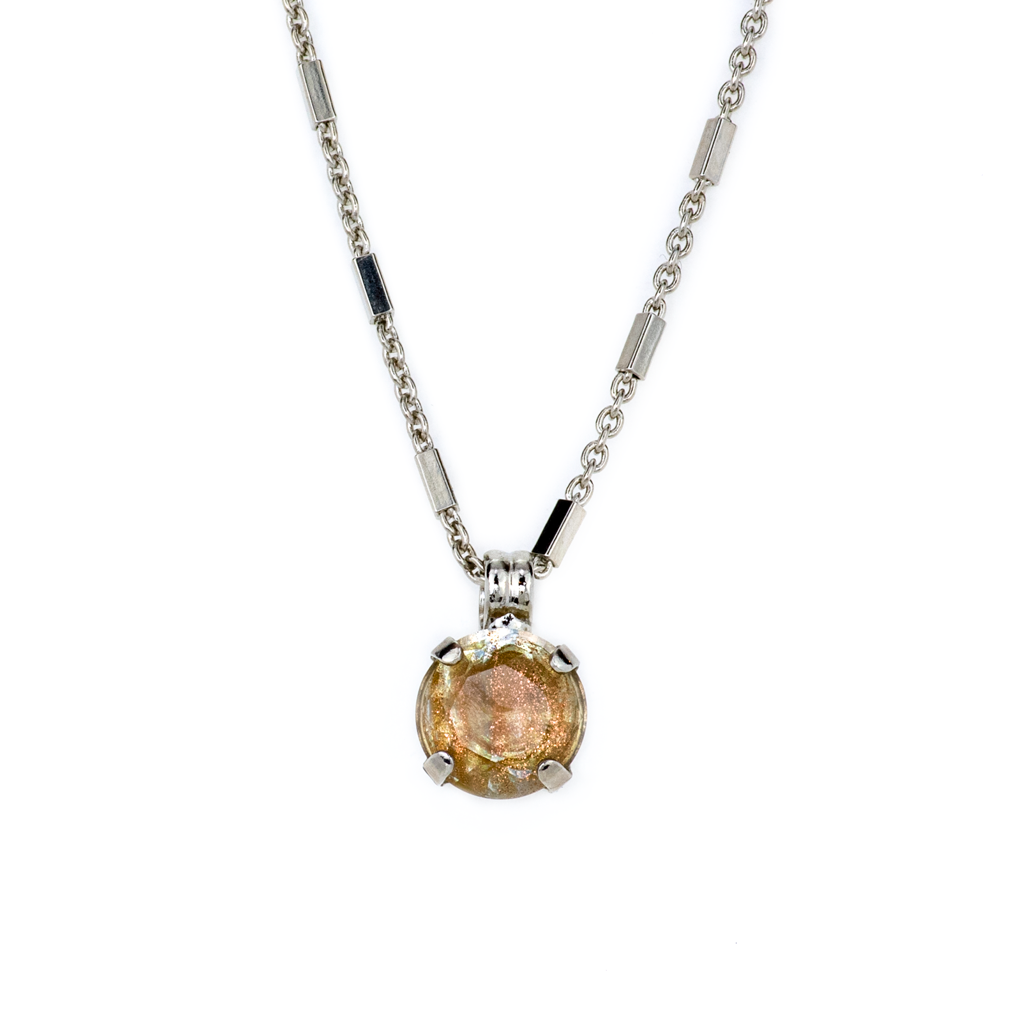 "Lovable Round Single Stone Pendant in ""Hazelnut"" *Preorder*"