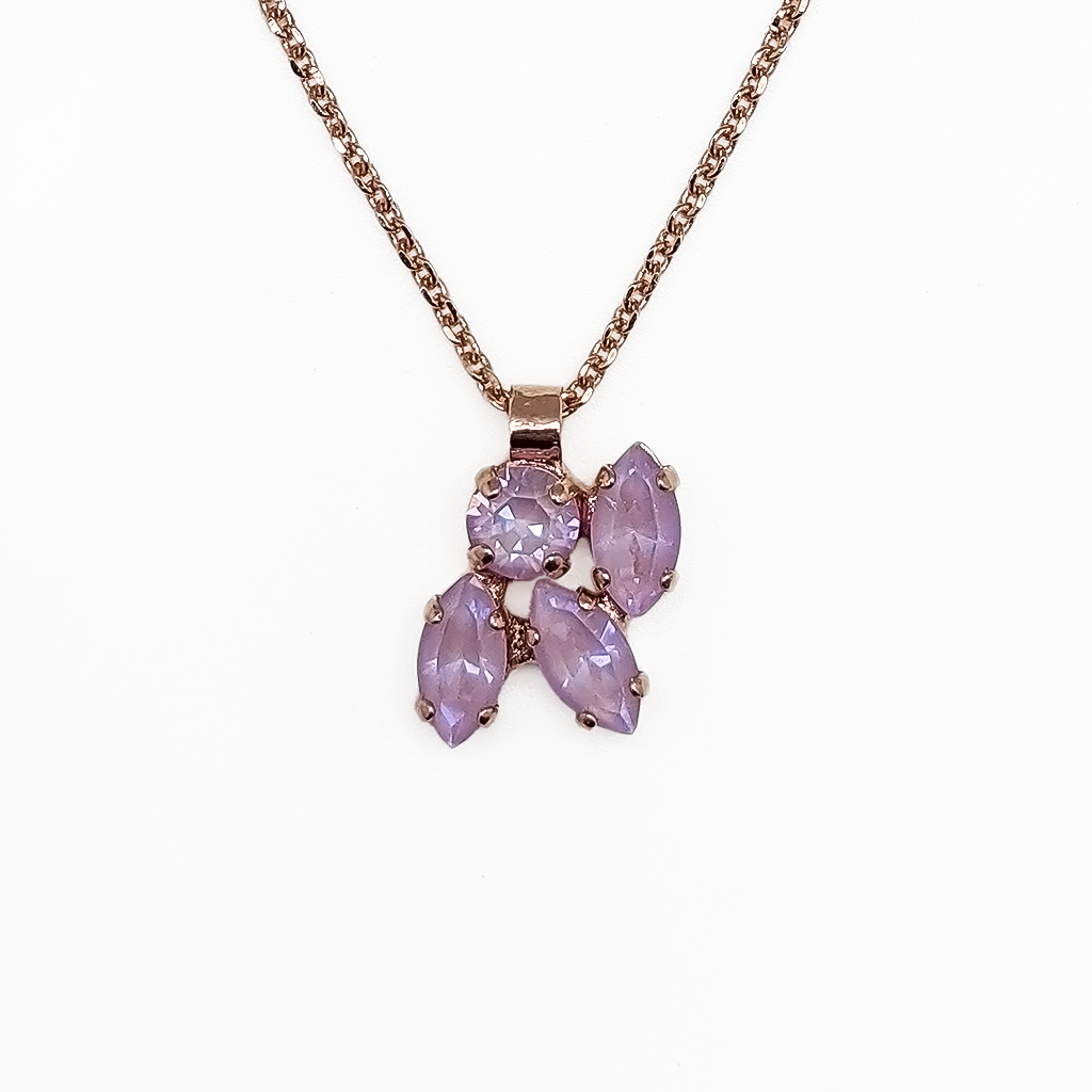 "*Preorder* Marquise and Round Pendant in Sun-Kissed ""Lavender"""