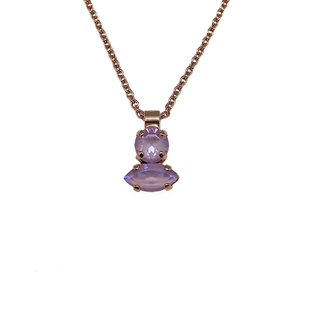 "Double Stone Pendant in Sun-Kissed ""Lavender"" *Preorder*"