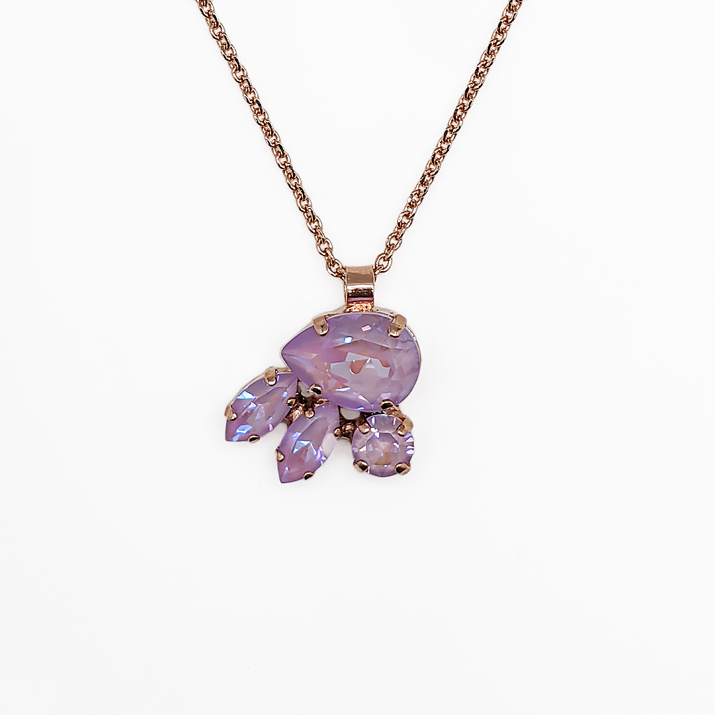"*Preorder* Pear, Marquise, and Round Pendant in Sun-Kissed ""Lavender"""
