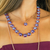 "Lovable Cushion Cut Necklace in Sun-Kissed ""Plum"" *Preorder*"