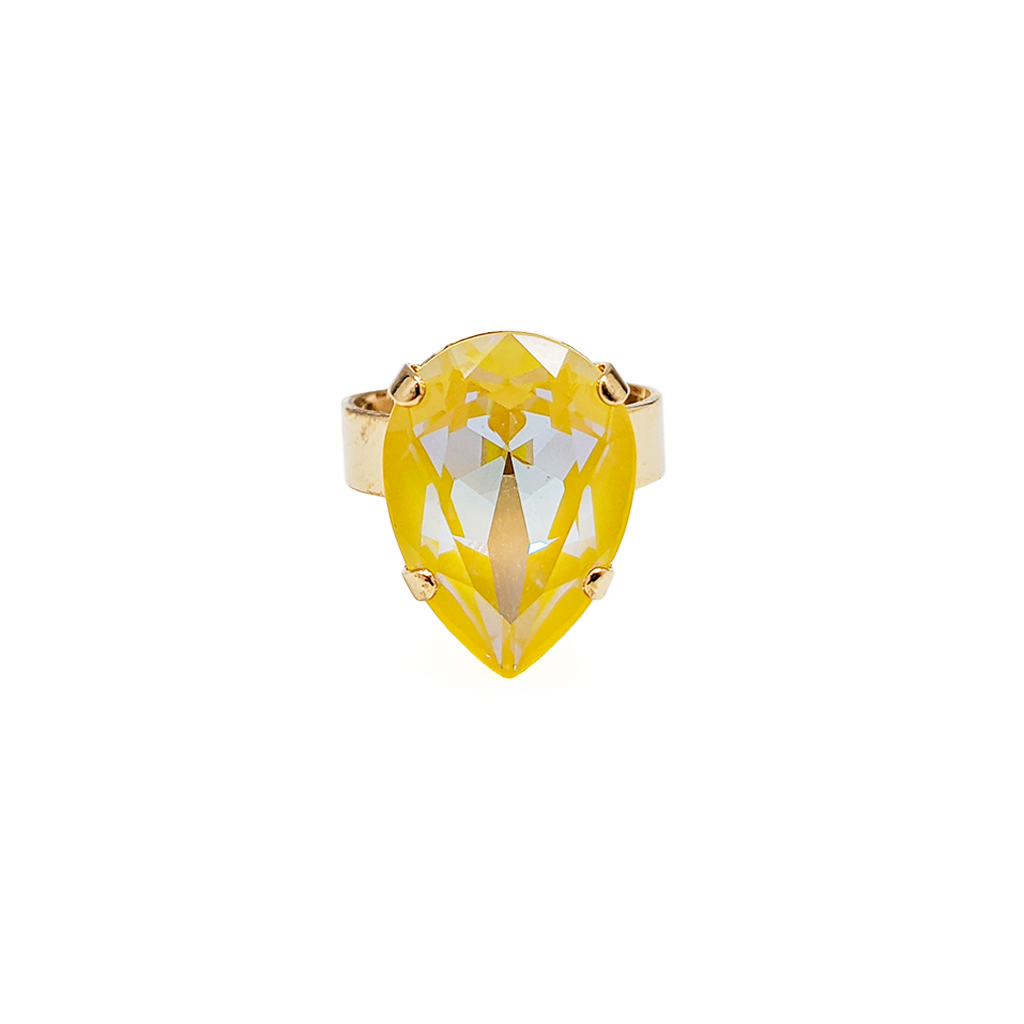 "Pear Adjustable Ring Sun-Kissed ""Sunshine"" *Preorder*"