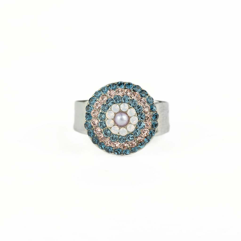 "*Preorder* Large Pave Ring in ""Blue Morpho"""