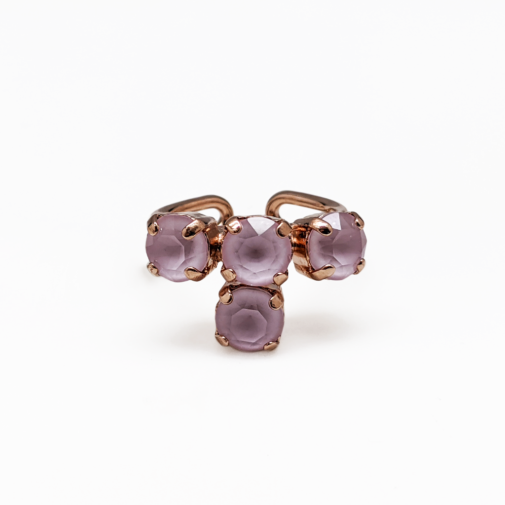 "*Preorder* Petite Four Stone Adjustable Ring in Sun-Kissed ""Rose"""
