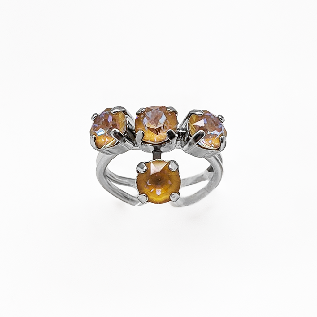 "*Preorder* Petite Four Stone Adjustable Ring in Sun-Kissed ""Horizon"""