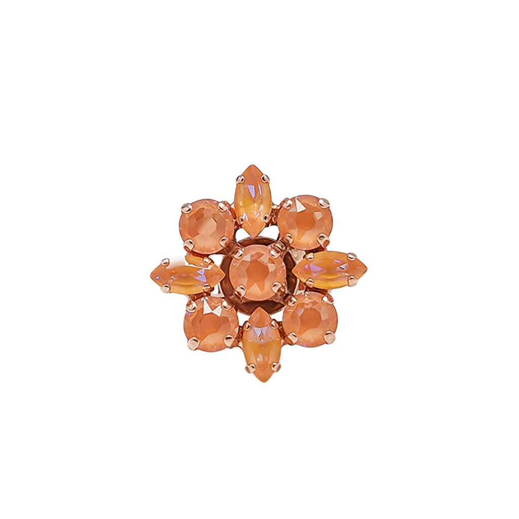 "Marquise and Round Adjustable Ring Sun-Kissed ""Peach"" *Preorder*"