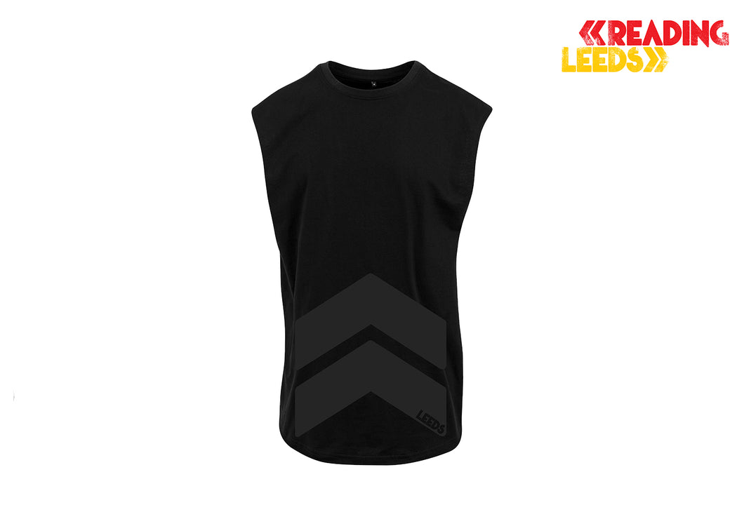 Leeds Black Chevron Vest