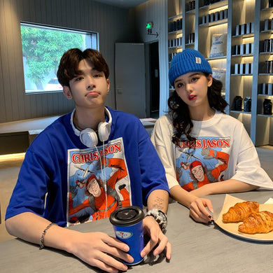 Comic Couple Oversize T Shirt