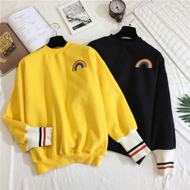 Korean Rainbow Long Sleeve Fashion