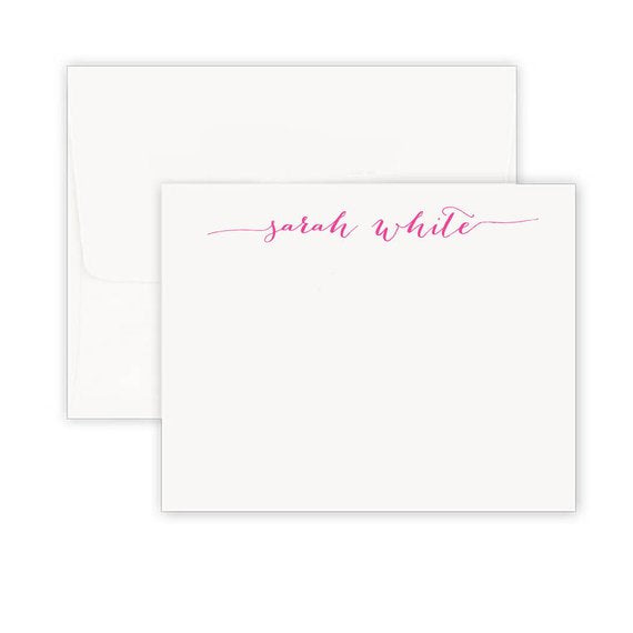 Simplistic Signature Note Cards