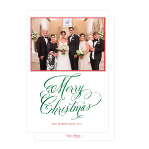 Merry Elegance Holiday Card