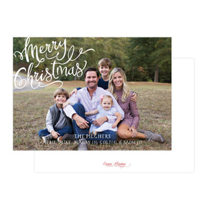 Merry Christmas Calligraphy Holiday Card