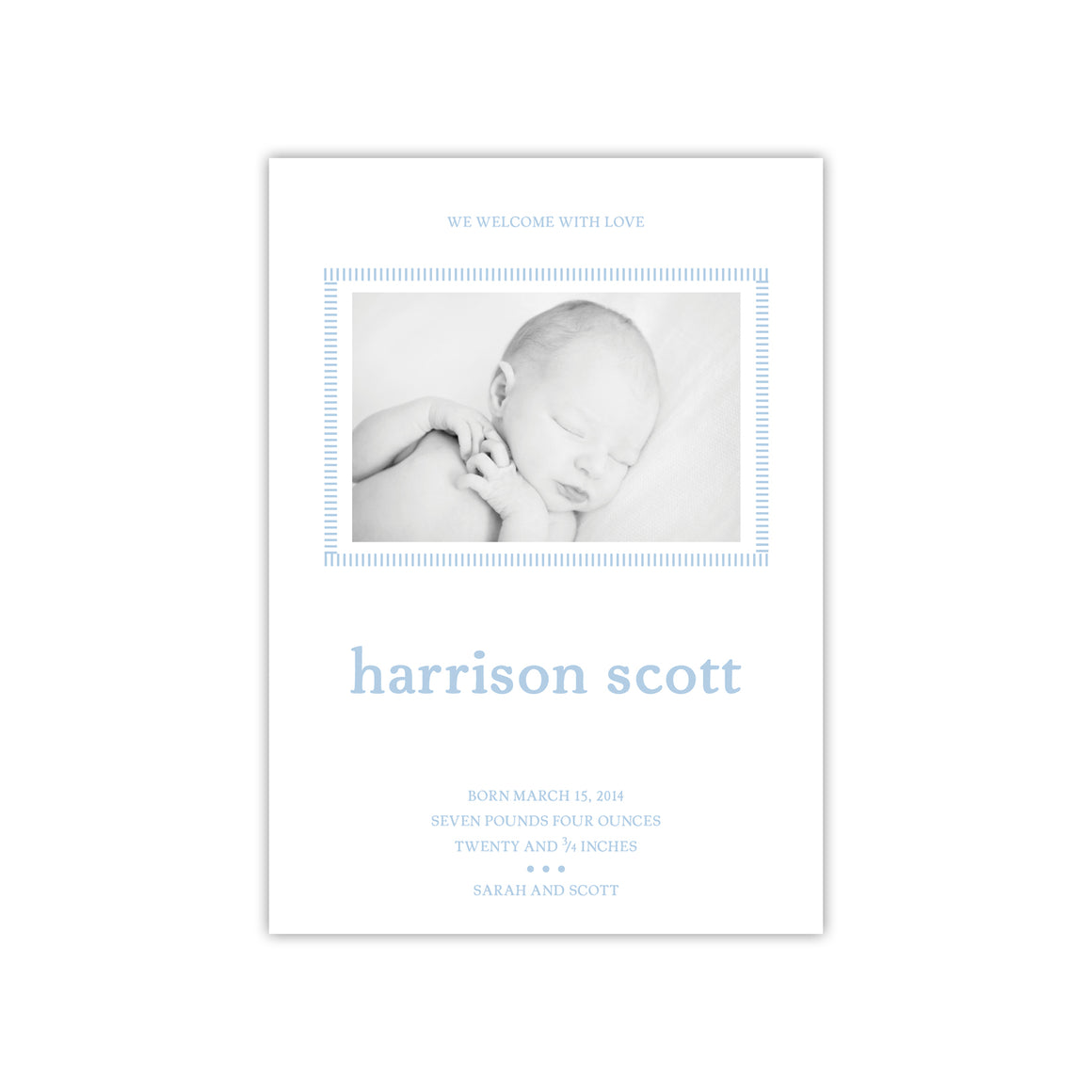 Soft Border Birth Announcement
