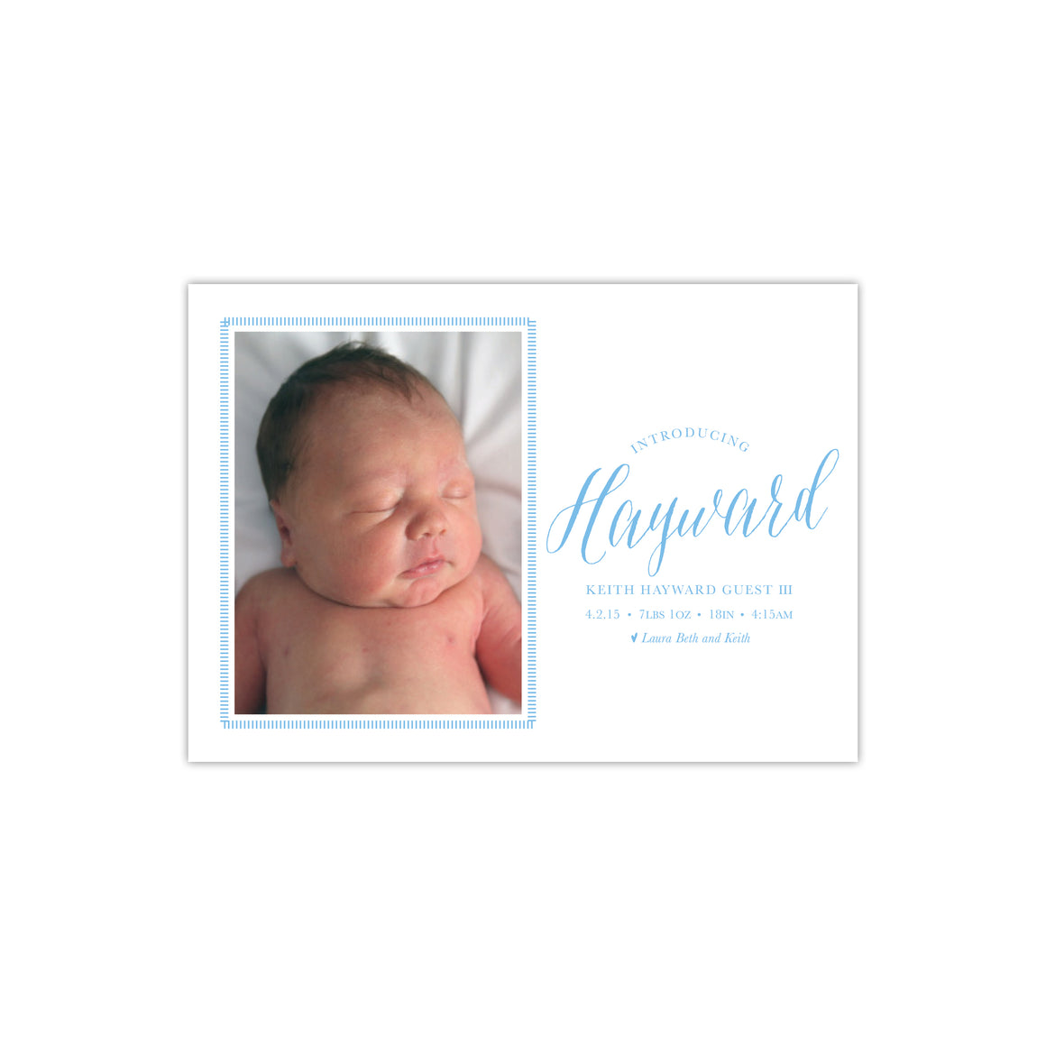 Introducing Sweet and Simply Boy Birth Announcement