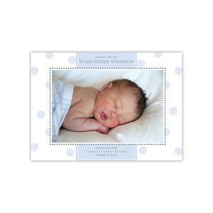 Welcome with Love Title Polka Dots Birth Announcement