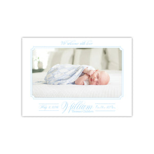Baby Boy Sweet and Simple Birth Announcement