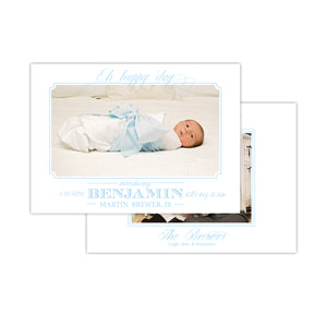 Oh Happy Day Sweet Boy Birth Announcement