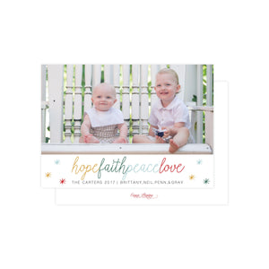 Hope Faith Peace Love Holiday Card
