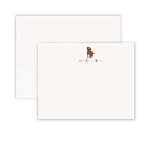 Brown Labradoodle Note Cards