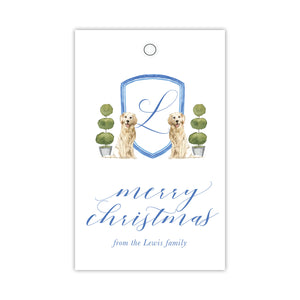 Golden Retriever Monogram Gift Tags