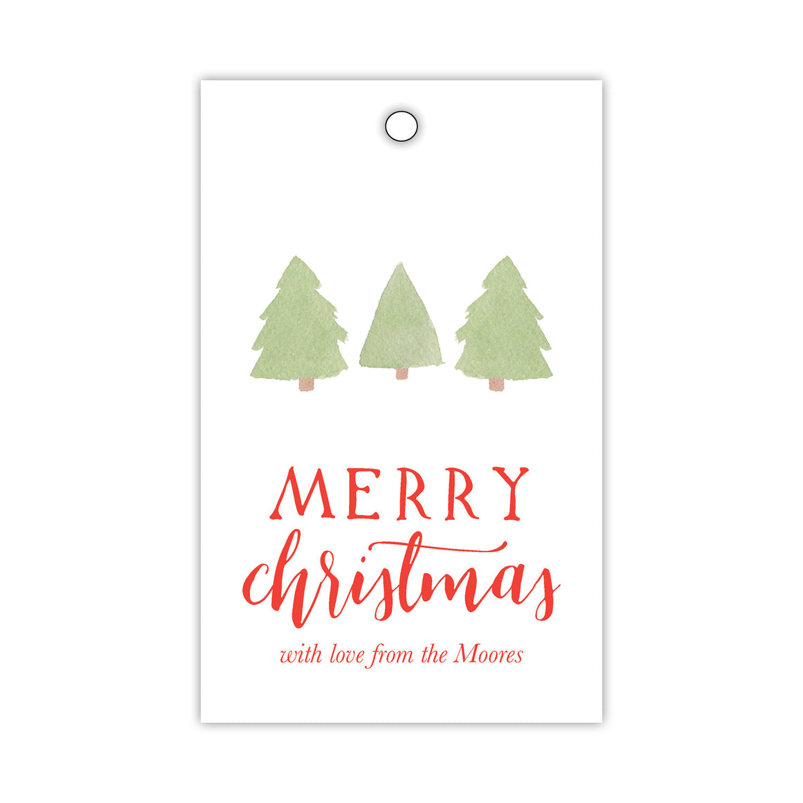 Three Green Trees Gift Tags