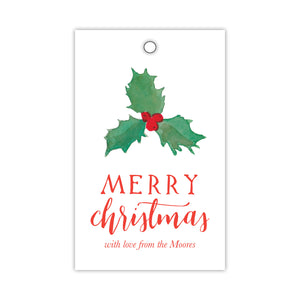 Holly Berry Gift Tags