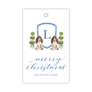 Spaniel Crest Gift Tags