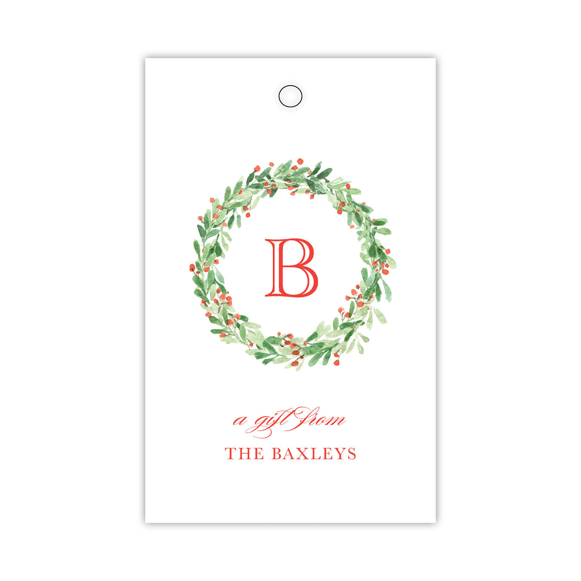 Greenery Berry Wreath Gift Tags