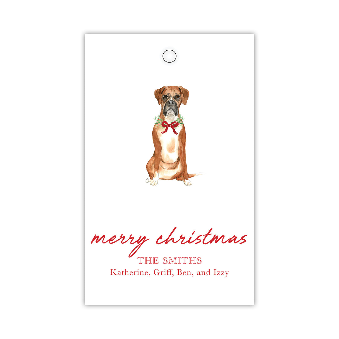 Boxer and a Bow Gift Tags