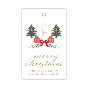 Christmas Morning Crest Gift Tags