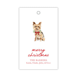 Christmas Yorkie Gift Tags