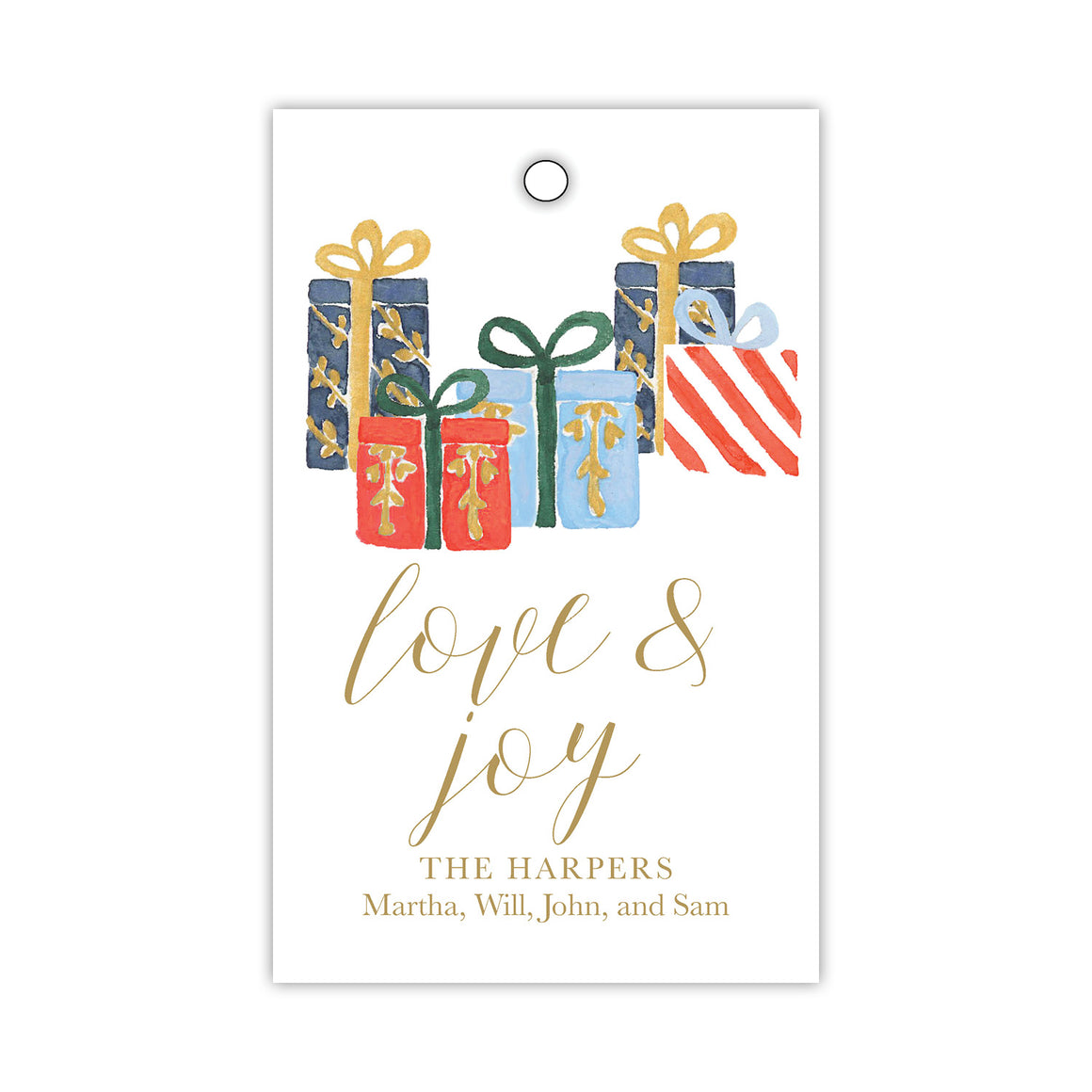 Gifts with Love and Joy Gift Tags