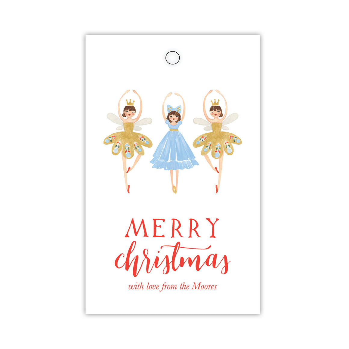 Merry Ballerinas Gift Tags