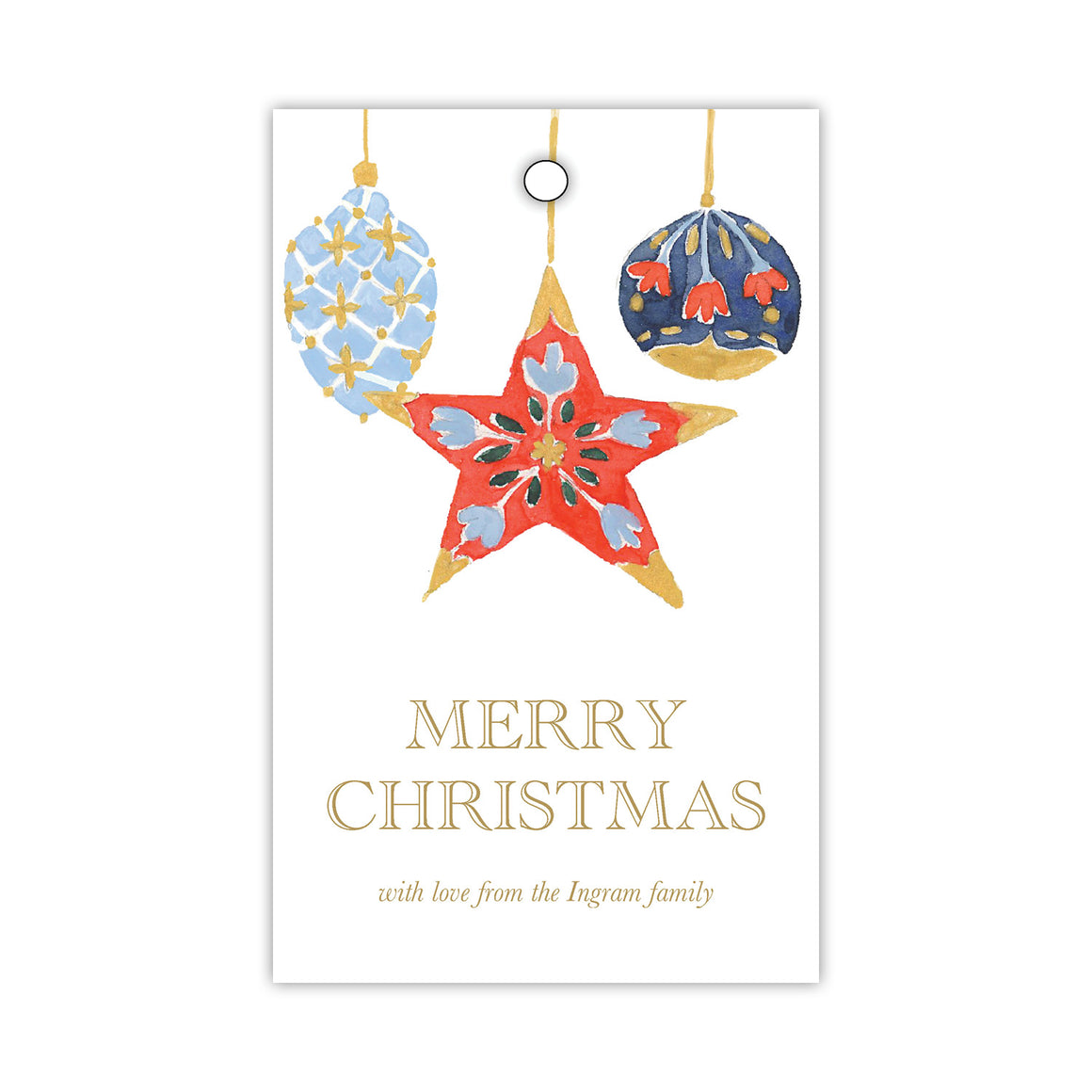 Ornamental Star Gift Tags