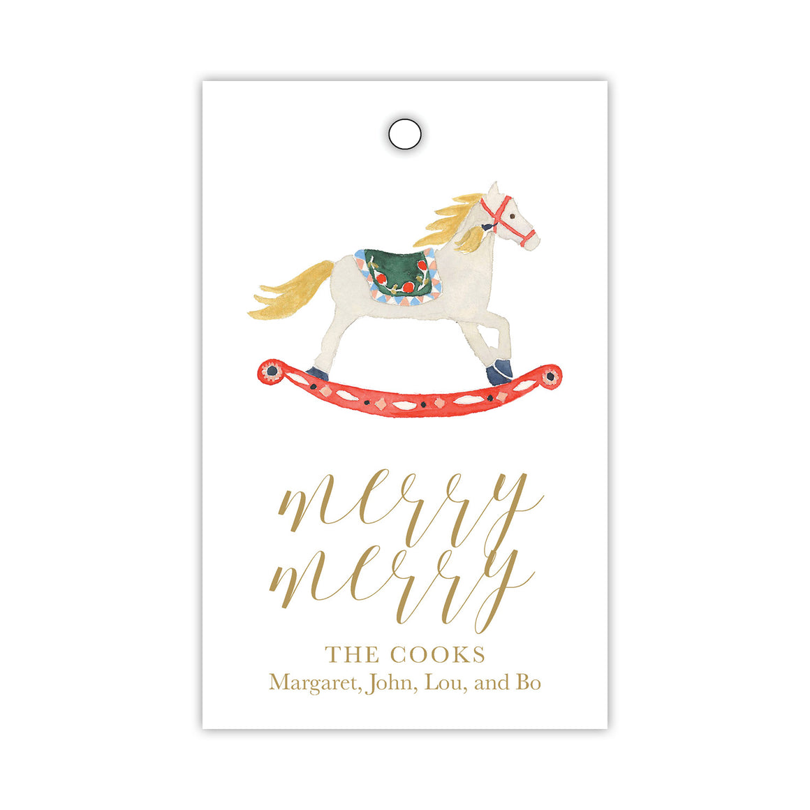 Merry Rocking Horse Gift Tags