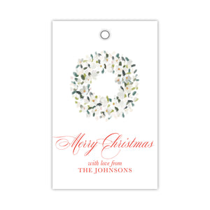 Magnolia Flower Wreath Gift Tags