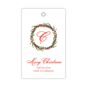 Very Berry Wreath Gift Tags