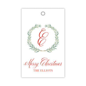 Wreath with Monogram Gift Tags