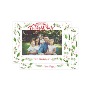 Whimsical Evergreen Holiday Card