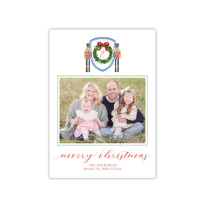 Nutcrackers and a Wreath Holiday Card