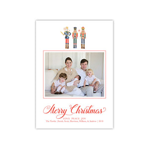 Merry Christmas Nutcrackers Holiday Card