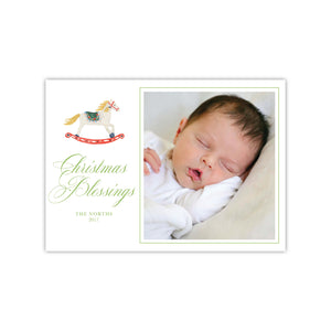 Rocking Horse Holiday Card