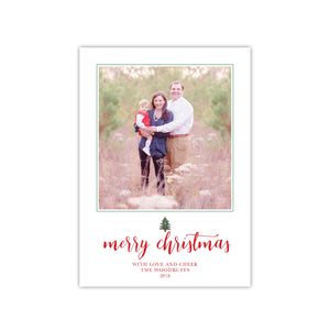 Cute Christmas Tree Holiday Card