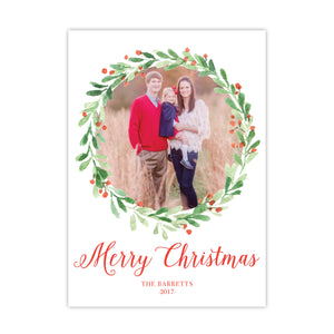 Berry & Sprig Wreath Holiday Card