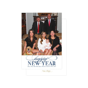 Happy New Year in Navy Holiday Card