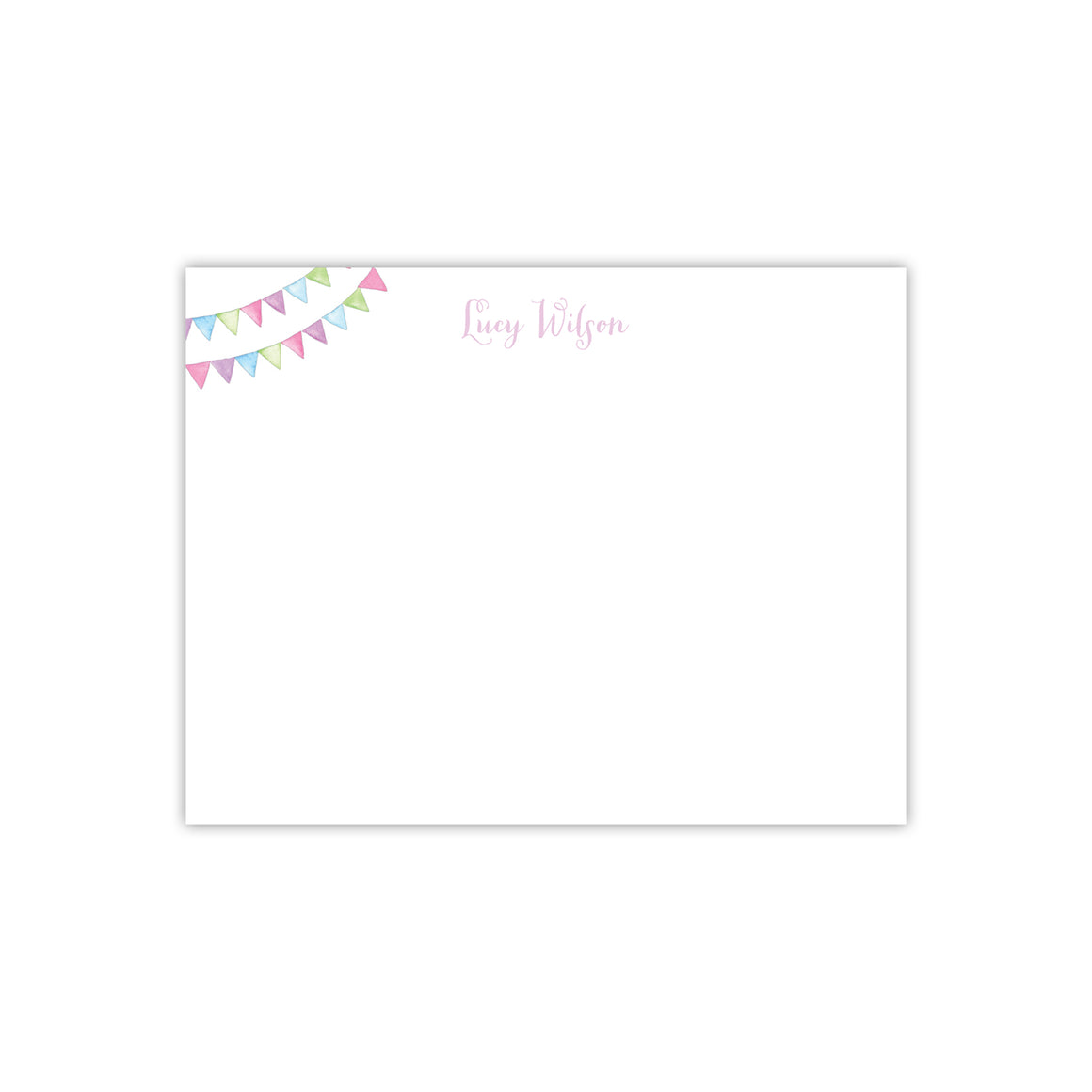 Watercolor Flag Note Cards