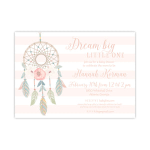 Dream Big Little One Invitation